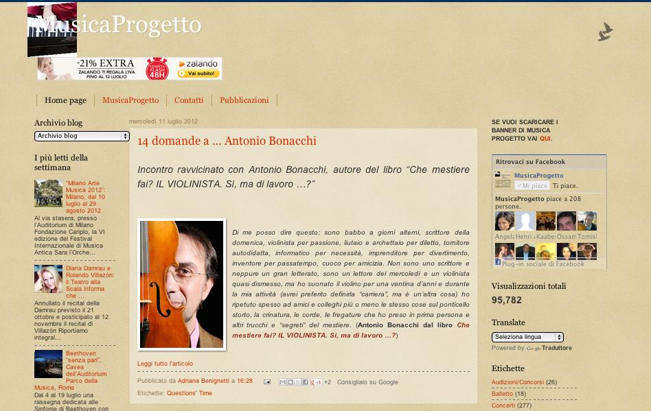 Intervista con Adriana Benignetti – MusicaProgetto